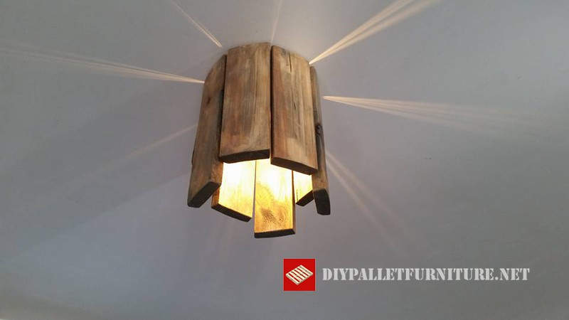 Lamparas con palets 3diy pallet furniture diy pallet furniture - Lamparas con palets ...