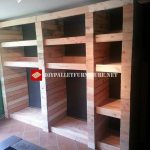 Open wardrobe with pallet planks