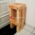 Design stool made with pallets
