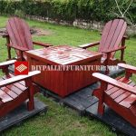 Adirondack chairs and table for the garden