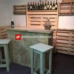 Bar completely made with pallets