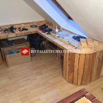 Corner desk with pallets