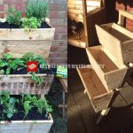 Stepped planter with pallets