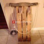 Sled made with pallets