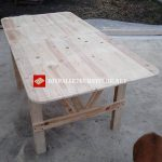 Table built with pallets