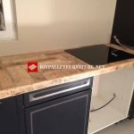 Coated kitchen with pallets