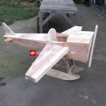 Toy airplane made with pallets