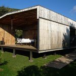 House made with recycled pallet planks