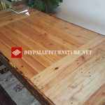 Dining table with burnt wood